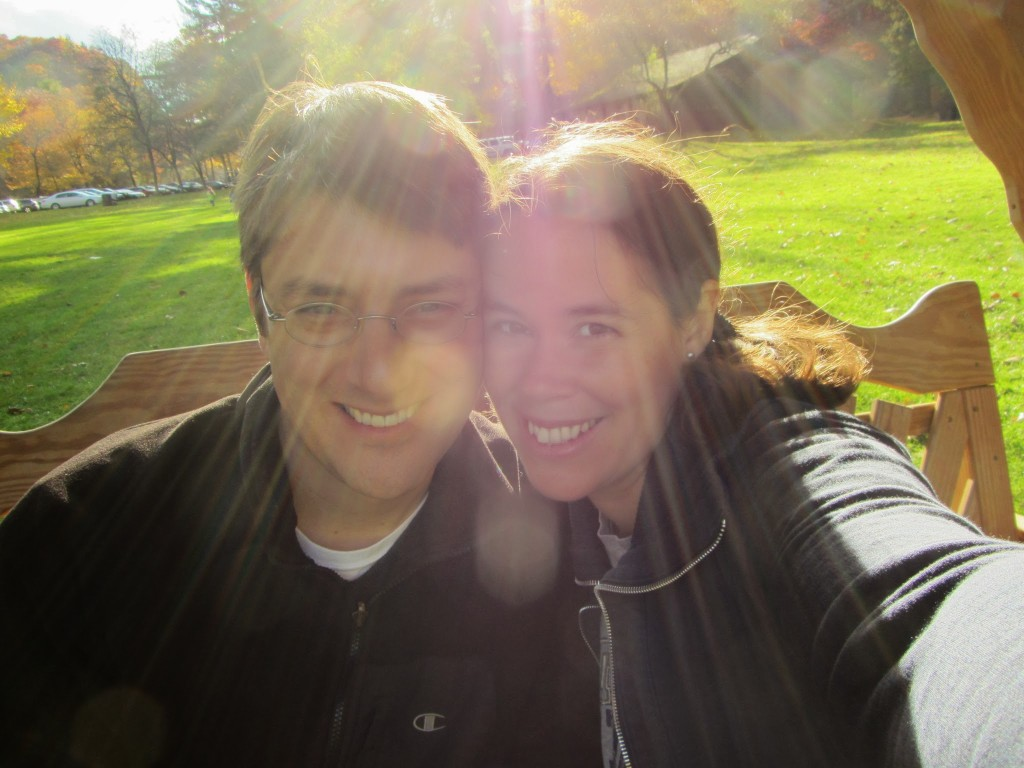 Dave and I in the sunlight